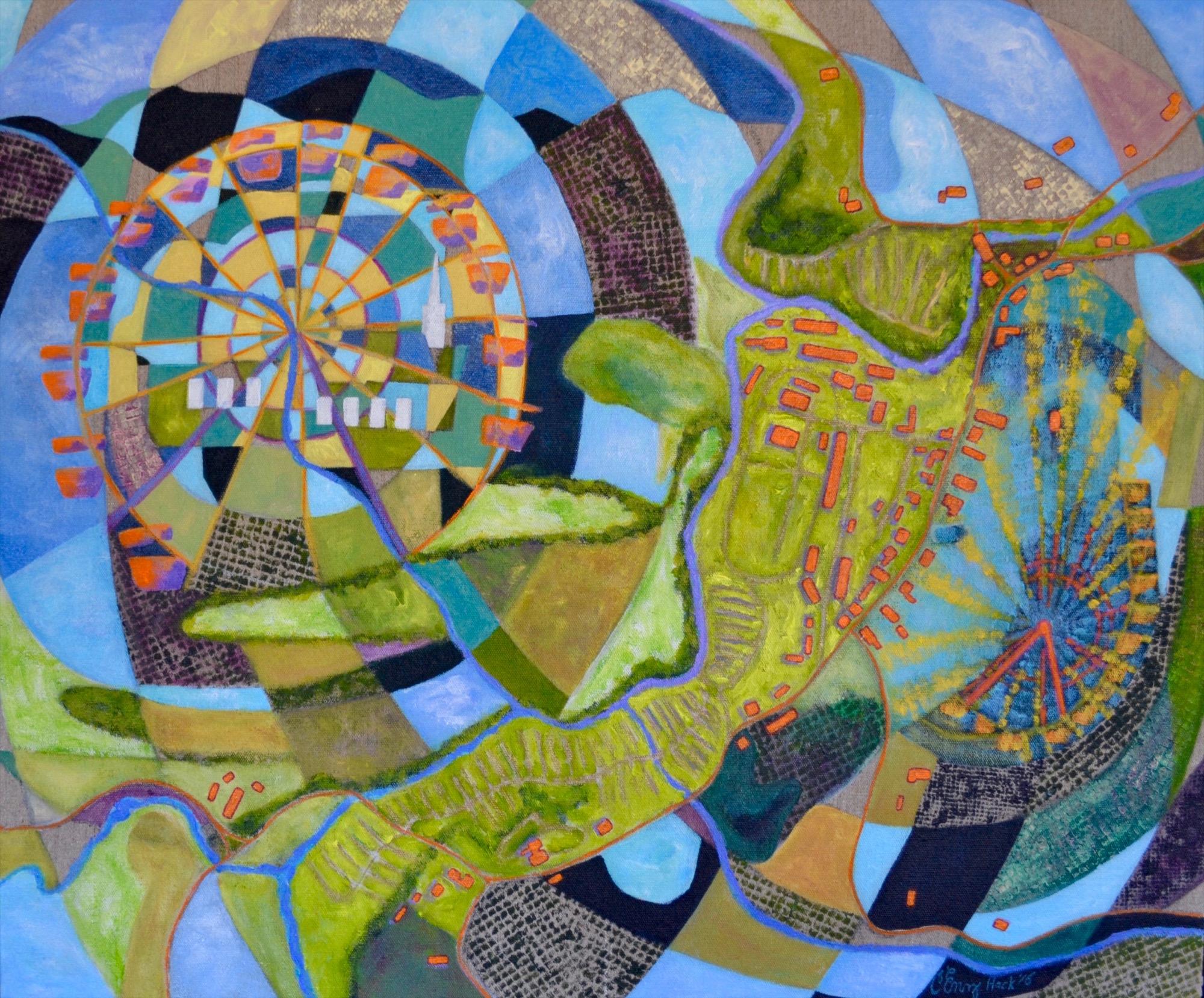 "A Fair to Remember - Tunbridge, Vermont Carolyn enz Hack acrylic on linen 30x36"" 2016"