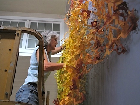 Carolyn installing