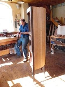 Garrett Hack in his shop
