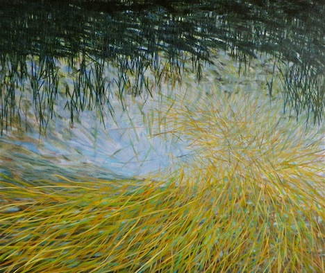 """Xs oil on canvas 32x48"""" 2011"""