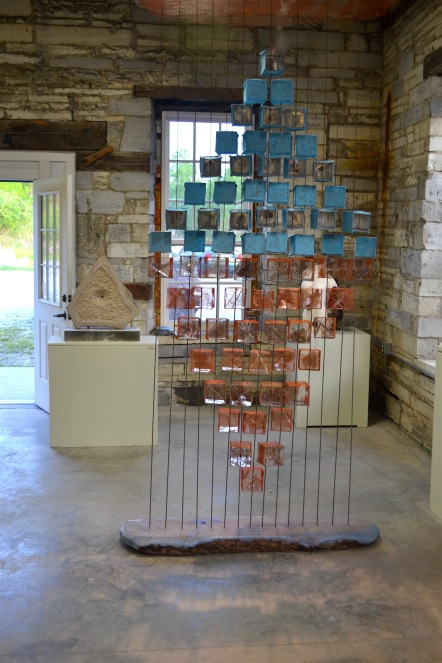 Encountering – The Space Between installed at the Carving Studio