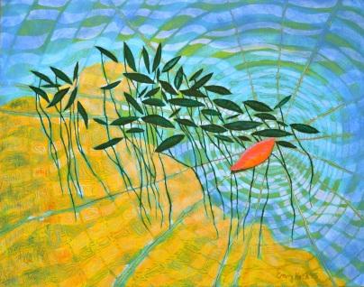"Ripple   oil on canvas   14x18"""