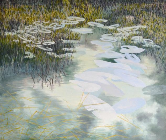 "Ghostlight   oil on canvas  34x40"""