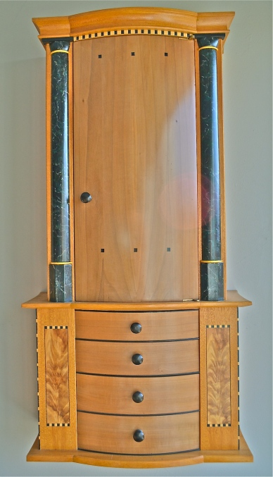 Shrine Cabinet 2003 faux Verde Antique marble woodworking by Garrett Hack