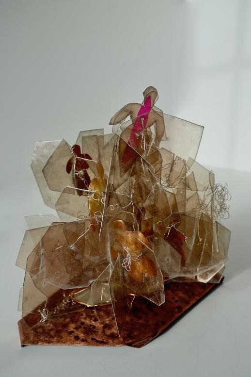 "Ascendant CEnzHack mica, copper, mirror plexi, dichroic film 8x8x6"" 2-18 front view Sm"