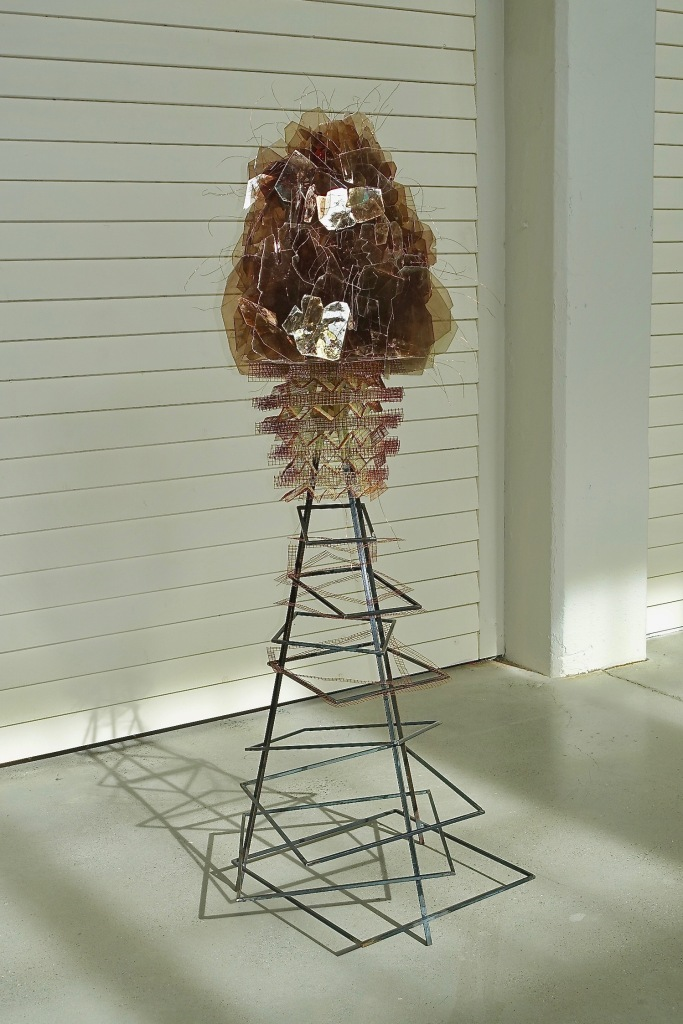 Ascendant - Obfuscation Carolyn Enz Hack steel, wire cloth, mica, copper 60x16x16""
