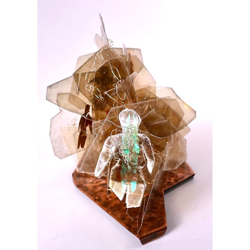 Ascendant Carolyn Enz Hack mica, copper, wire 8x8x6""