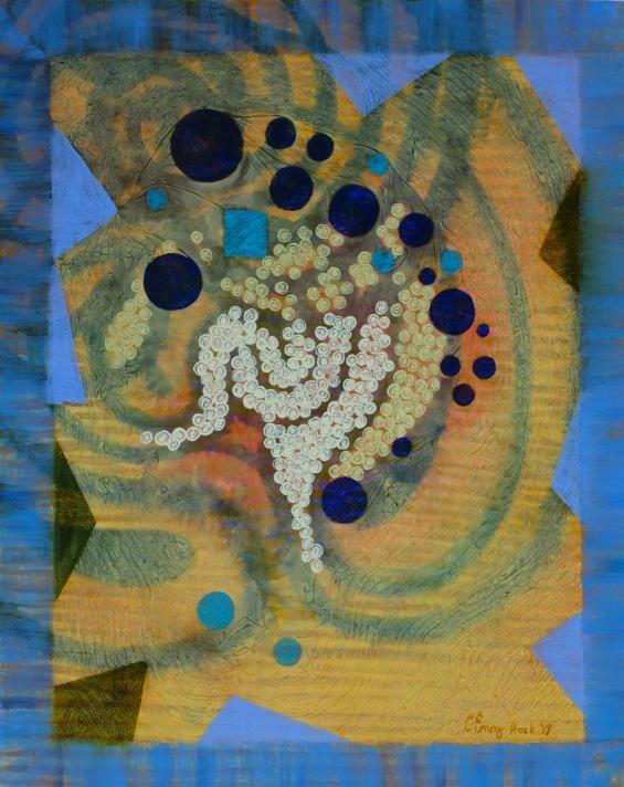 """Constellation Carolyn Enz Hack oil on board 20x16"""""""