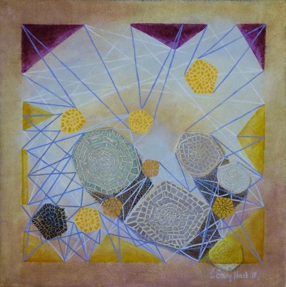 "Entanglement Carolyn Enz Hack oil on canvas 16x16"""