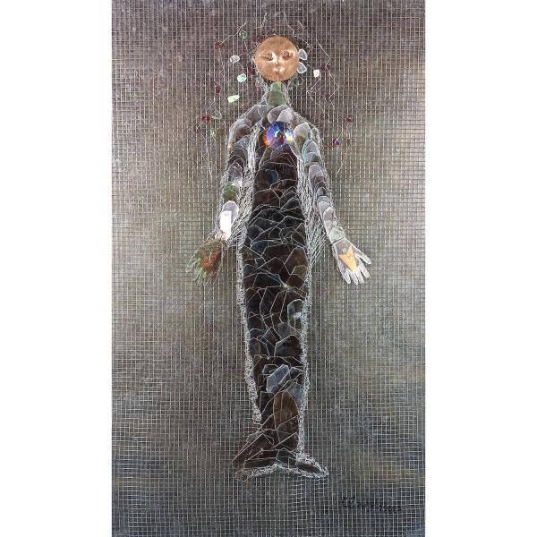 Moon - Fish - Spirit Carolyn Enz Hack mica, copper, steel, mixed media 30x18x2_ 2018