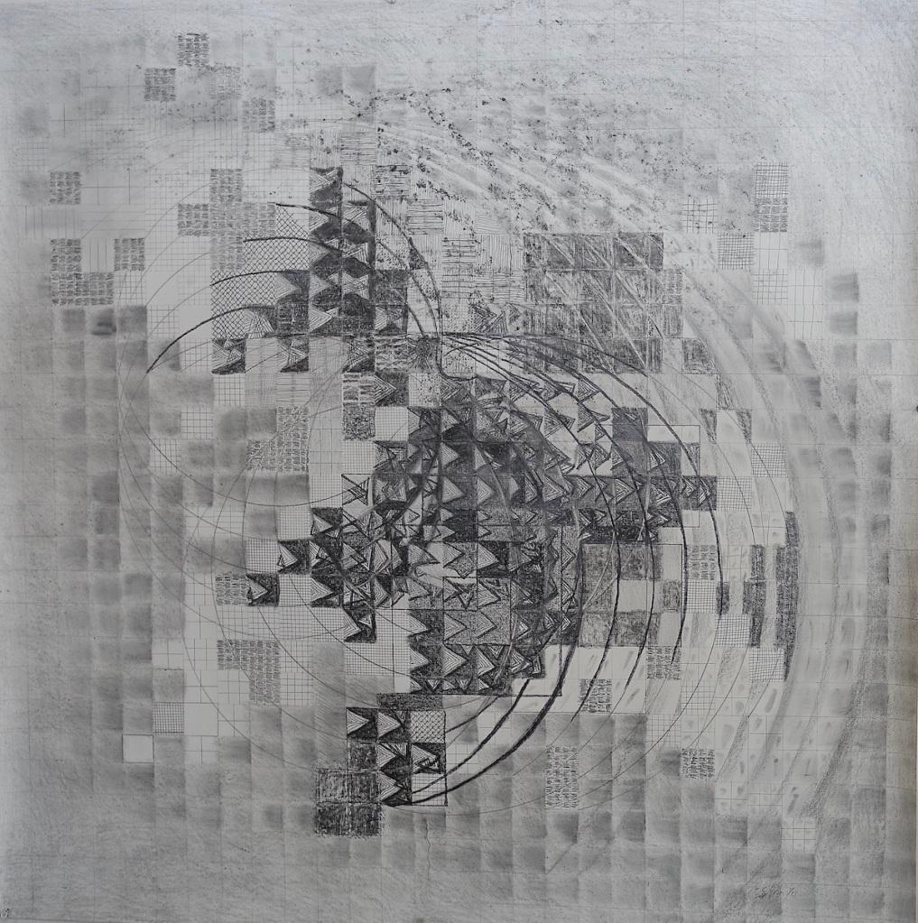 "Echolocation graphite 42x42"""