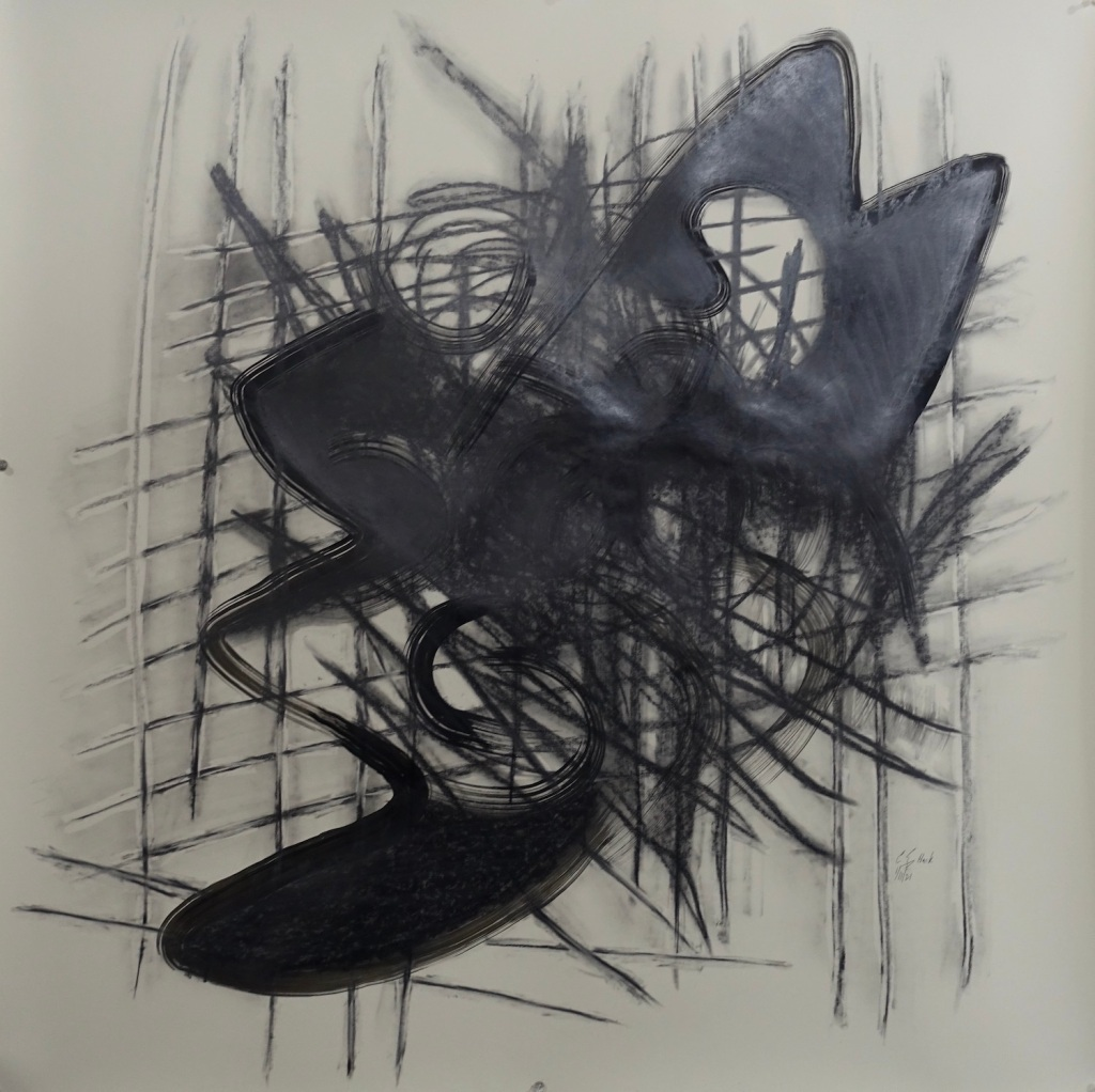 """Mayday graphite, india ink 36x36"""""""